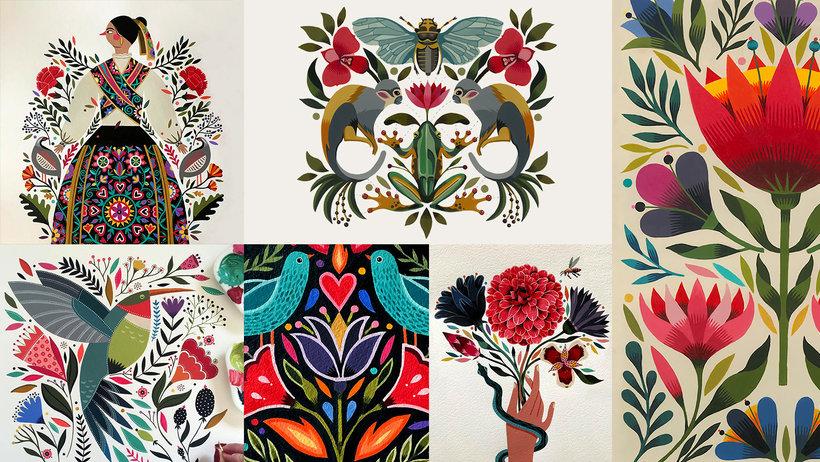 Introducción A La Ilustración Floral Con Acrílico Maya Hanisch