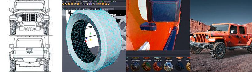 modelado de coches, Iniciación al modelado de coches en 3D, Factor3D