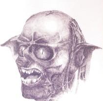 dibujo con boli. A  project by Fernando Ricardo Flores Gómez - 04-02-2010