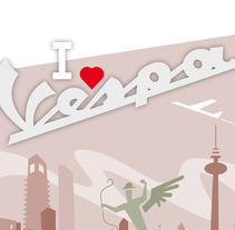 I love vespa. A Design, Illustration, and Advertising project by jorge fernández toledano - 23-03-2010
