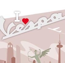 I love vespa. Un proyecto de Diseño, Ilustración y Publicidad de jorge fernández toledano - Martes, 23 de marzo de 2010 19:00:46 +0100