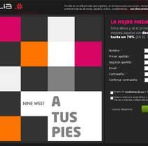 landing page zapatos. Un proyecto de Publicidad de Massimiliano Seminara - Martes, 07 de septiembre de 2010 21:21:15 +0200
