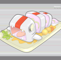 Pezzcado : Un diseño kawaii fresco. Un proyecto de Diseño e Ilustración de Herbie Cans - 18-10-2010