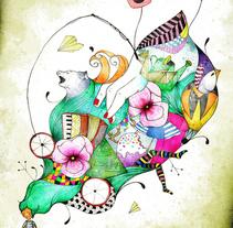 La anciana y el recipiente de vino. A Illustration project by Alejandra Romero - 01-11-2010