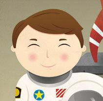 A la luna!. Un proyecto de Ilustración de Natalia Rey - Viernes, 05 de noviembre de 2010 09:45:09 +0100