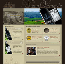 Bodegas Nueva Valverde. A Design, Advertising, Software Development&IT project by César Candela - 30-12-2010