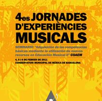 4es Jornades d'experiències musicals. Um projeto de Design de lluís bertrans bufí         - 24.01.2011