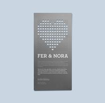 Fer & Nora. Un proyecto de Dirección de arte y Diseño gráfico de La caja de tipos  - Lunes, 03 de enero de 2011 00:00:00 +0100