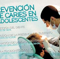 Lona Promocional Semana Higiene Bucal. Un proyecto de Diseño de José Rivera         - 12.04.2011