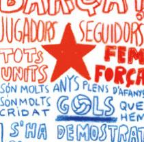 Estrella Damm patrocinio equipos de futbol. A Illustration, and Advertising project by marta altés - 22-04-2011