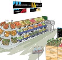 Ilustración ambiental y de espacios. Un proyecto de Ilustración e Instalaciones de Mònica  Roca - 17-05-2011
