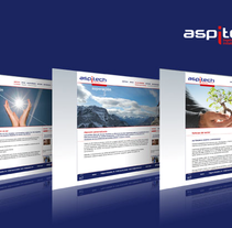 Site corporativo aspitech. A Design, and Software Development project by Eztizen Angulo         - 05.07.2011