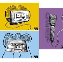 La radio en los 90. Um projeto de Design, Ilustração e Música e Áudio de Pablo Pighin         - 08.07.2011