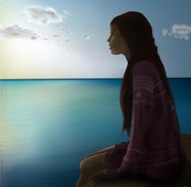 Girl At Lake. Un proyecto de Diseño e Ilustración de Luis E. Arellano         - 09.07.2011