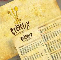 Crépelix - Menú de mesa. A Design project by Fernando Carvantes         - 13.07.2011