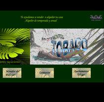 Sitio web de Apartamentos Tobago. A Design, Illustration, Advertising, Music, Audio, Motion Graphics, Installations, Software Development, Photograph, Film, Video, TV, UI / UX, 3D&IT project by Diego Gavilán Martín         - 03.08.2011