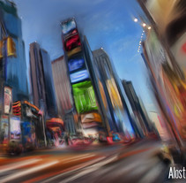 New York Concept. A Illustration project by Carlos  Ruiz Alonso - 05-09-2011