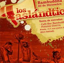 Cartel Concierto Los Aslandticos. Un proyecto de Diseño y Publicidad de dramaplastika - 26-10-2011