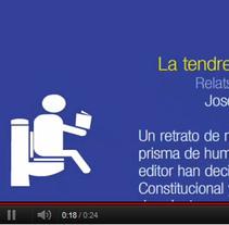 """Spot del libro """"La tendresa del paper higiènic"""". Um projeto de Motion Graphics de Héctor Gomis López         - 28.10.2011"""