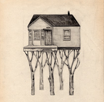 Casas árbol. A Illustration project by anne - 02-01-2012