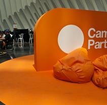 Escenografía Evento Campus Party Valencia 2011. Un proyecto de Diseño, Publicidad e Instalaciones de Yolanda Benedito         - 20.01.2012