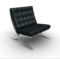 Silla Barcelona Van Der Rohe 3D. Un proyecto de Diseño, Instalaciones y 3D de Naone  - Martes, 17 de enero de 2012 14:02:11 +0100