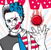 Rock & Clown. A Illustration project by Laura Regàs         - 19.01.2012