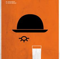 Carteles de cine minimalistas. Un proyecto de Diseño, Ilustración, Cine, vídeo y televisión de Quim Mirabet López         - 02.04.2012