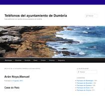 Teléfonos Dumbría. Um projeto de Design e Informática de Oscar M. Rodríguez Collazo - 12-05-2012