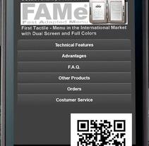 FAMe Mobile (E-Menu). Um projeto de Design, Desenvolvimento de software, UI / UX e Informática de Ladislao J. García Patricio         - 31.05.2012