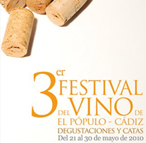 Festival del Vino de El Pópulo: Cartel 3ª edición. A Design, and Advertising project by Paco Mármol - Jun 06 2012 08:44 AM