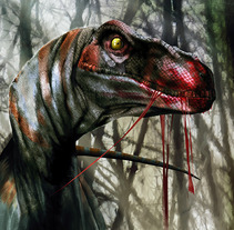 Raptor lunch. A Illustration project by Jose Angel Trancón Fernández - 11-06-2012
