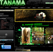 Web Tanama Cave Tubing. A Design, Illustration, and Software Development project by Ruben  Vargas Martin - 18-06-2012