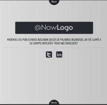 NowLogo. A Illustration, Advertising, Music, Audio, and Software Development project by Miguel Barrenechea Sánchez         - 28.06.2012
