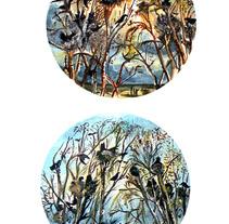 Proyecto en acuarela. Um projeto de Ilustração, Br, ing e Identidade, Design gráfico e Packaging de raquel arriola caamaño         - 01.07.2012