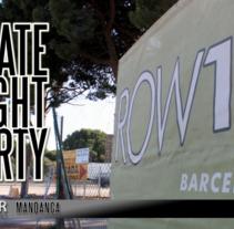 Skate Night Party 2012 . Un proyecto de Cine, vídeo y televisión de Pau Avila Otero         - 14.07.2012