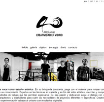 40 plumas - Creatividad en vidrio. A Design, Software Development, Photograph&IT project by Pablo Formoso         - 21.07.2012