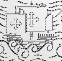 Arribada de la Pinta a Bayona. Un proyecto de Diseño e Ilustración de David Sierra Martínez - 07-08-2012
