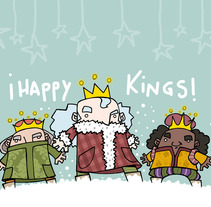 Three Kings. A Design&Illustration project by Marga Turnbull         - 28.08.2012