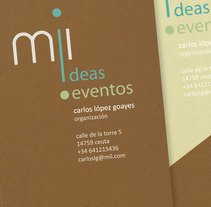 mil ideas mil eventos. A Design project by sonia gandasegui          - 05.10.2012
