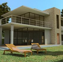 3D Vivienda unifamiliar. Un proyecto de Diseño, 3D y Arquitectura de Sergio Fernández Moreno         - 07.10.2012