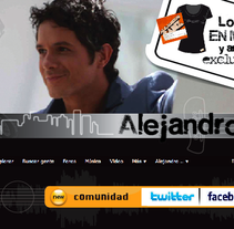 Banner MySpace Alejandro Sanz. A Design project by Jessica Alexandra Bustamante Fonseca - 11-10-2012