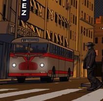 Atardecer en la ciudad. Un proyecto de Ilustración y 3D de Cristián Werb         - 23.10.2012