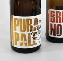 Cervezas artesanas Ales Agullons. Etiquetas de producto. . Um projeto de Design, Ilustração e Fotografia de Tomás Castro         - 20.11.2012