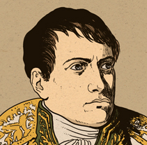 Napoleón Bonaparte. A Illustration project by Nicolás Castell         - 09.12.2012
