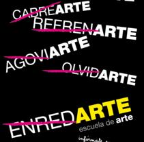 Campaña publicitaria Escuela de Arte de Guadalajara. Um projeto de  de Delia Ruiz         - 25.02.2013