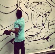 """Proyecto de pintura mural para la Unión Europea. """"YOUTH ON THE MOVE"""". Un proyecto de Diseño, Ilustración, Publicidad, Instalaciones, Cine, vídeo, televisión y UI / UX de Dibujante y más! Alfredo G.         - 02.04.2013"""