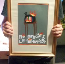 """No apagues la televisión"". A Design, Illustration, Installations, and Photograph project by ZANART - 20-04-2013"