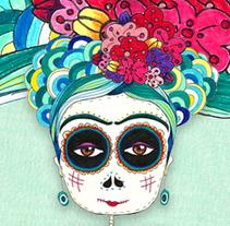 Frida Kahlo. Un proyecto de Ilustración de Patricia Fornos         - 06.06.2013