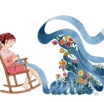 Tejiendo la primavera. A Illustration project by Sara Olmos - Jul 03 2013 10:56 AM